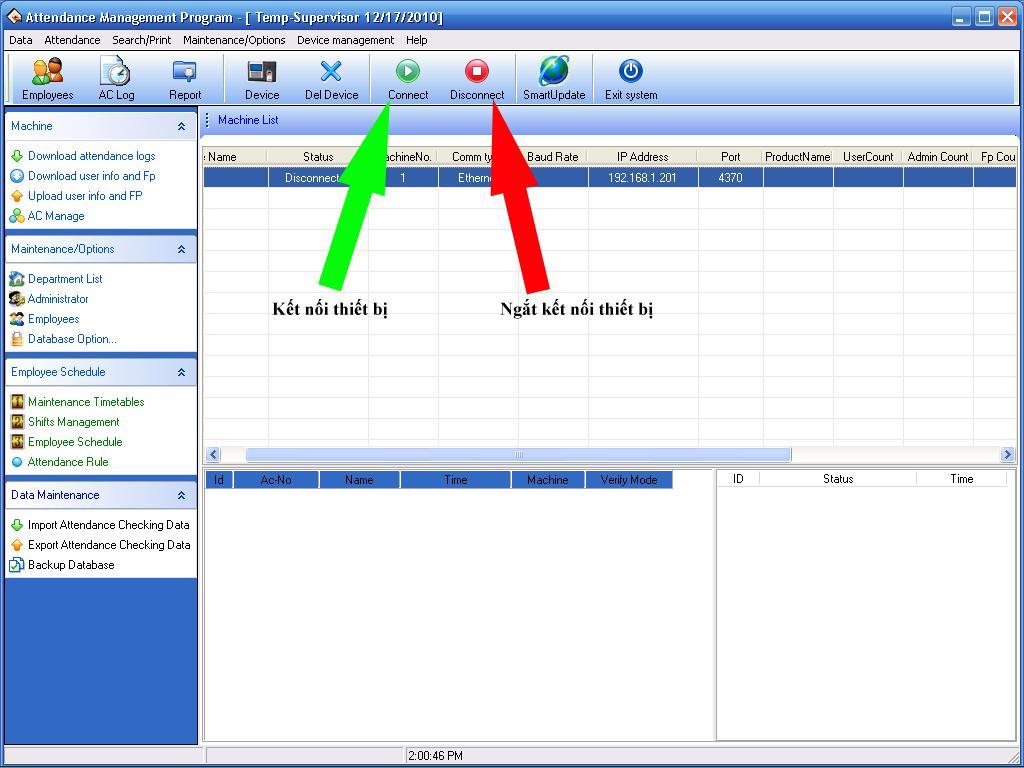 Hướng dẫn sử dụng phần mềm chấm công Attendance Management
